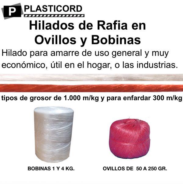 07 Hilados de Rafia en Ovillos y Bobinas