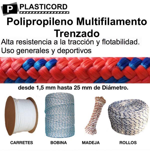 03 Cuerdas de Polipropileno Multifilamento Trenzado